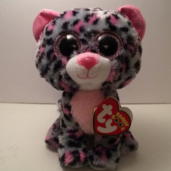 "Ty-TASHA BENIE BOO! grey pink 6""  9290db322b16"